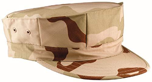 Fatigue Ripstop Black Cap - BlackC Sport Tri Color Desert Camo Rip Stop Military No Emblem Patrol Fatigue Cap