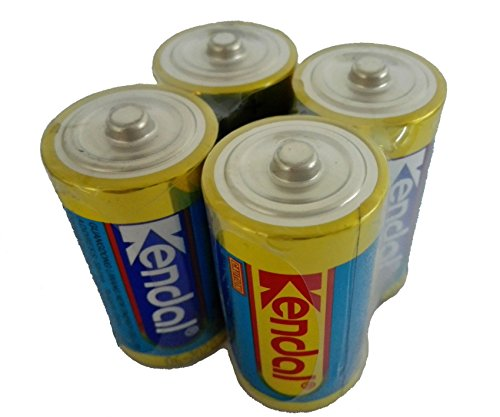 (KENDAL Ultra Power Mercury and Cadmium free Alkaline MN1400 1.5v LR14 C size batteries 4 count)