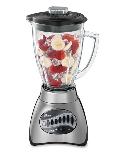 Oster 6811 6-Cup Glass Jar 12-Speed Blender, Brushed Nickel (Back To Basics Blender Parts)