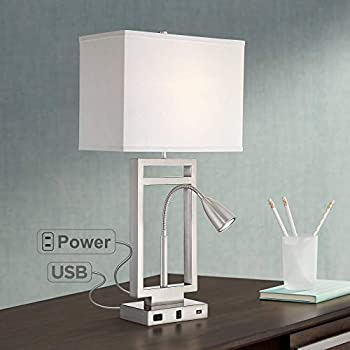 Nevel Modern Table Lamp With Usb And Ac Power Outlet In