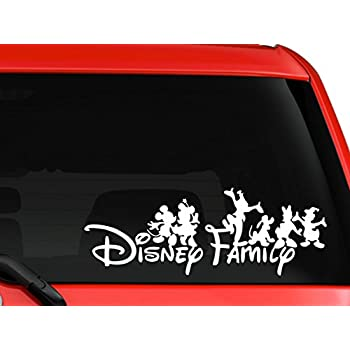 Amazoncom Chroma Mickey Mouse Ears Family Decal Kit Automotive - Family decal stickers for carsamazoncom stick family stick family car window wall laptop decal