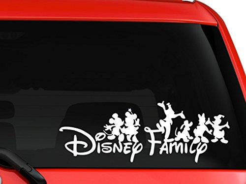 Disney family Mickey and friends car truck SUV mac book laptop tool box wall window decal sticker (8