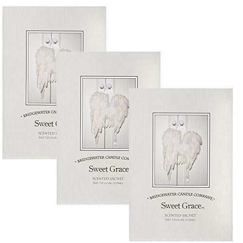 3 Pack Bridgewater Large Scented Fragrance Sachet 115ml - Sweet Grace Bridgewater Candle Co.
