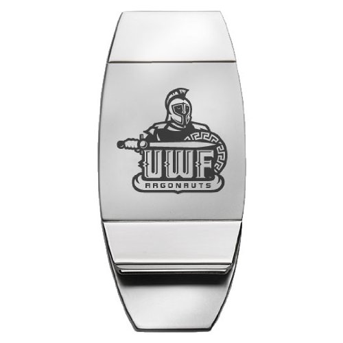 Two-Toned Money Clip Silver University of West Florida