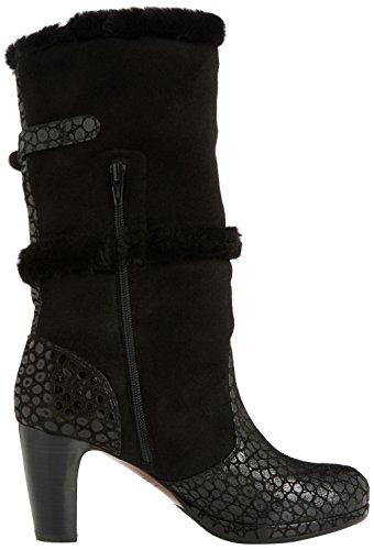 Schwarz de lebon negro bajo caño negro facefur mujer negro de botas piel Mihara josan Chie qv1twHxZan