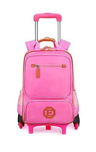 Meetbelify Trolley School Bags Rolling Backpack For Kids Six...
