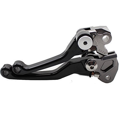 FXCNC Racing CNC Aluminum Dirt Bike Pivot Brake Clutch Lever Set for Honda CRF 150F 150 230F 230 CRF150F CRF230F 2003-2017 Black
