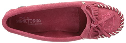 Minnetonka Kvinna Hello Kitty Kilty Mockasin Slip-on Hot Pink