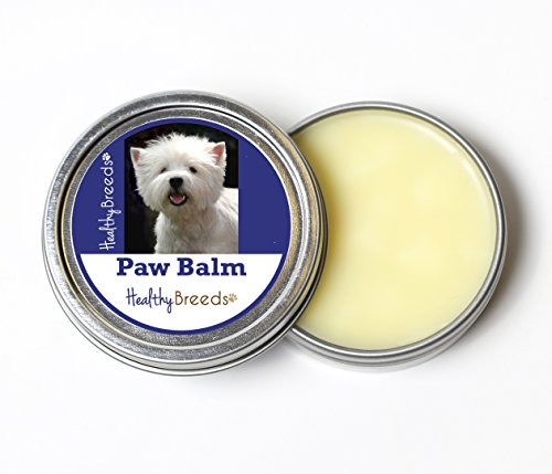 Healthy Breeds All Natural Dog Paw Pads Butter Balm for West Highland White Terrier - Over 200 Breeds - All Natural & Organic Oils Heal Dry Cracked & Chapped Skin - Unscented Formula - 2 oz Tin ()