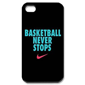 Custom Basketball Never Stops Cover Case for iPhone 5c for kids IP-31159