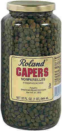 Roland: Capers, Nonpareille, 32 OZ