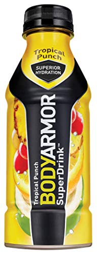BODYARMOR Sports Drink Sports Beverage, Tropical Punch, 16 Fl Oz (Pack of 12), Natural Flavor With Vitamins, Potassium-Packed Electrolytes, No Preservatives, Perfect For Athletes (Drink Natural Sports)