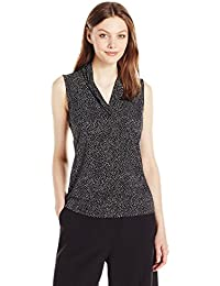 Anne Klein Women's Dot Print Triple Pleat
