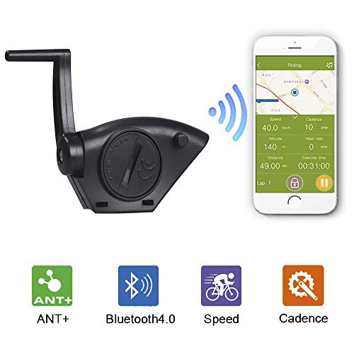 KASTEWILL Ant+ Bluetooth Bike Speed Cadence Sensor Smart Wireless Waterproof Fitness Tracker Bike Computer Speedometer for iPhone Android and Bike Computers