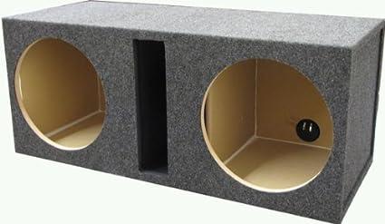 Car Audio Dual 12 Slot Ported Stereo Labyrinth Sub Box Speaker Subwoofer 3//4 Mdf