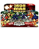 "Marvel Super Hero Squad 3"" Figures Dreadknight, Zhang Tong, Stealth Armor Iron Man & Iron Man"