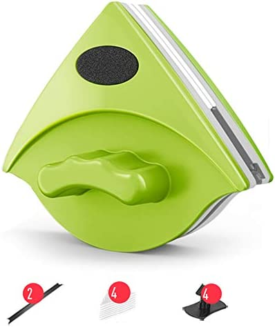 磁気両面ガラスクリーナー、家庭用両面高層ダブルレイヤー中空強力な磁気ウィンドウのクリーニングツール安全両面ガラスクリーナー,A