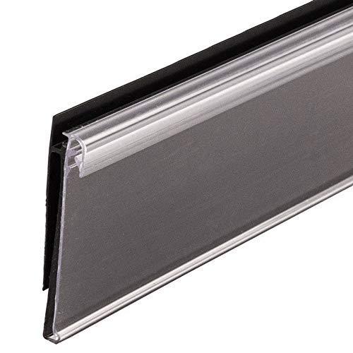 48'' L UPC Ticket Channel Label Holder Strip for Gondola Shelf with Sign Holding Grip, Black, 20 Pack