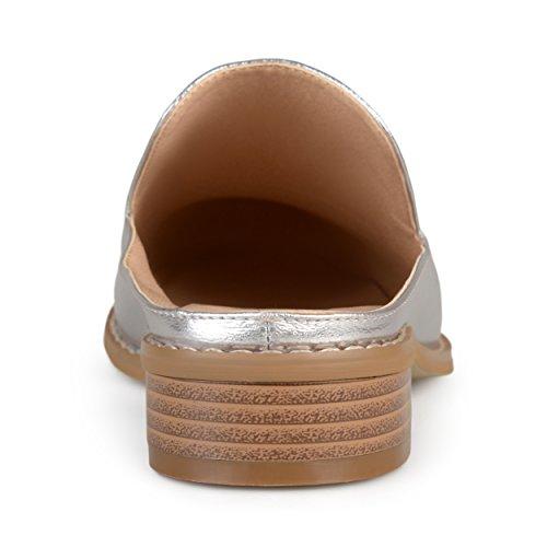 Mocassino Con Zeppa In Pelle Sintetica Comfort-suola Brinley Co