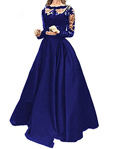 96845deb5ea3bd Little Star 2 Piece Women's Long Sleeve Evening Gown Prom Dress, 1 Royal  Blue, 8