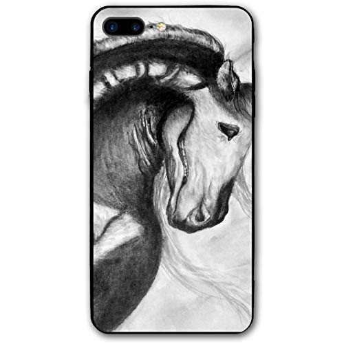 Halloween Painted Horse Skeleton iPhone 8 Plus Case, iPhone 7 Plus Case, Ultra Thin Lightweight Cover Shell, Anti Scratch Durable, Shock Absorb Bumper Environmental Protection Case Cover