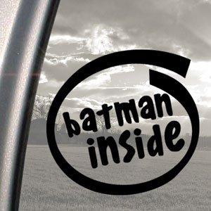BATMAN INSIDE Black Decal Robin Car Truck Window Sticker Amazon - Window stickers amazon uk