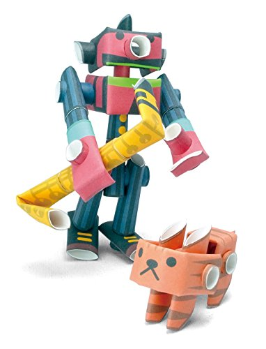 PIPEROID Tenor & Silky Paper Craft Robot kit from Japan - Jazzman & His Cat (Old Package)
