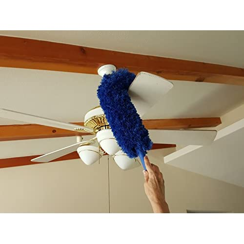 Extension Rod & Blue Extension Duster, Extend 18-20 feet Cleaning High  Ceilings, - Extension Rod & Blue Extension Duster, Extend 18-20 Feet Cleaning