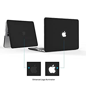 "iBenzer Basic Soft-Touch Series Plastic Hard Case & Keyboard Cover for Apple MacBook Pro 13-inch 13"" with Retina Display A1425/1502 (Previous Generation) (Black)"