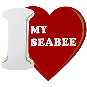 I Love My Seabee Clear Decal by Mitchell Proffitt