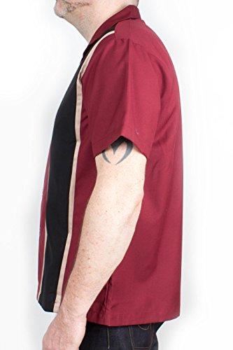 Rumble59 - Classic Herren Shirt - Two Stripes RedWine