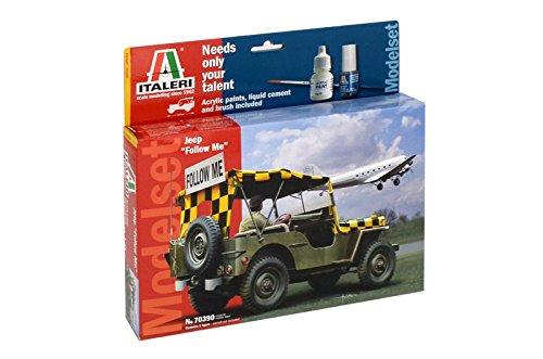 Italeri 510070390 - 1:35 Willys Jeep Follow me Model Set