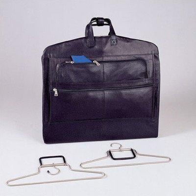 Napa Supple Cowhide Leather Garment Bag Color: Black by Winn International