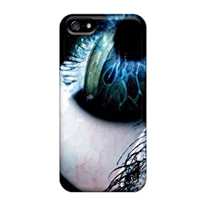 5/5s Scratch-proof Protection Case Cover For Iphone/ Hot Blue Black Eye Phone Case by runtopwell
