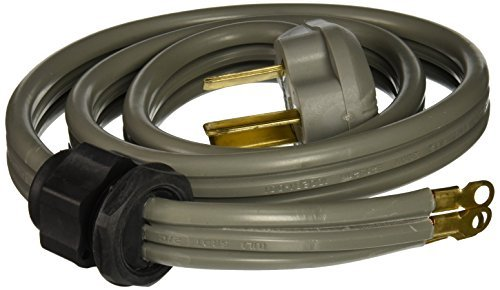 PETRA 90-1080QC 3-Wire Quick-Connect Range Cord, 4-Foot, 50A Closed End by ()