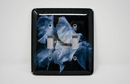 White Iris Blossom Light Switch Plate ()