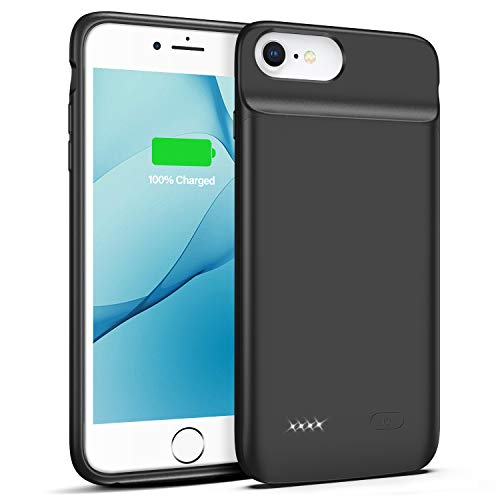 Battery Case for iPhone 6 Plus 6s Plus, 5000mAh Portable Rechargeable Charging Case for iPhone 6 Plus 6s Plus (5.5 inch) Protective Power Charging Case(Black)
