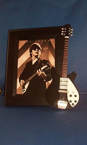 THE BEATLES JOHN LENNON BLACK Guitar Picture Frame