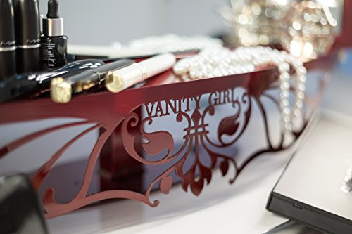 Red Vanity Girl Starlet Lighted Vanity Mirror With Optic Glass