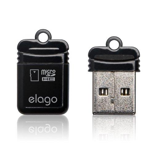 elago Mobile Nano I USB 2.0 microSDHC Flash Memory Card Reader (Black)