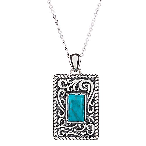 Lenox Silver Necklace (Sterling Blue Turquoise Necklace)