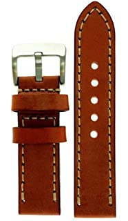 6e5d70294 JP Leatherworks Men's M121-Tan-22 22mm Panerai Style Leather Tan Watch Band