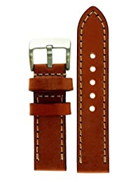 JP Leatherworks Men's M121-Tan-22 22mm Panerai Style Leather Tan Watch Band