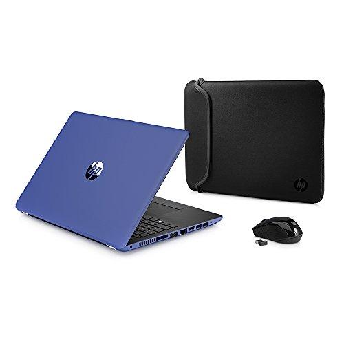 2018 Newest Premium HP High Performance Laptop PC 15.6-inch HD+ Display AMD E2-9000e Processor 4GB DDR4 RAM 500GB HDD WIFI DVD-RW HDMI Bluetooth Webcam Sleeve&Mouse Windows 10 (Blue)