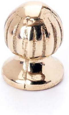 Jugenstil Knopf Zierknopf Abschluss aus Messing patiniert mit Gewinde gold M10x1
