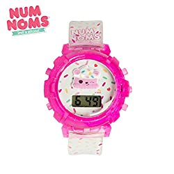 LCD watch with molded character dial and birthday cake scented strap