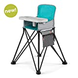 Summer Pop 'n Dine SE Highchair, Sweet Life Edition, Aqua Sugar Color - Portable High Chair for Indoor/Outdoor Dining - Space Saver High Chair with Fast, Easy, Compact Fold, for 6 Months - 45 Pounds