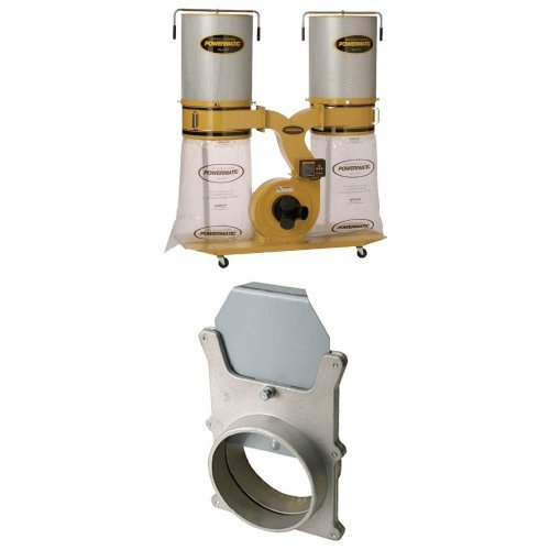 Powermatic PM1900TX-CK3 Dust Collector 3HP 3PH 230/460-Volt 2-Micron Canister Kit with 4'' Aluminum Blastgate