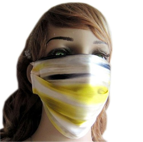 Fashion Summer UV Protection Dust Proof Mulberry Silk Sanitary Mask- Multicolor
