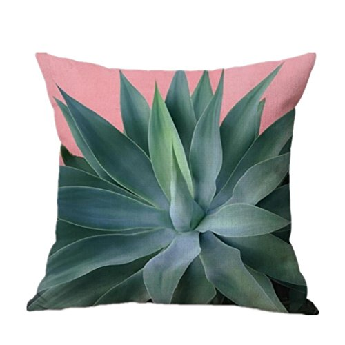 Hot Sale ! Pillow Case, Ninasill Exclusive Banana Leaf Sofa Bed Home Decoration Festival Pillow Case 43X43 cm Sofa Waist Cushion Cover (D) (For Leaves Banana Sale)